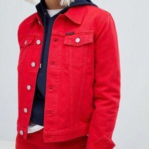 Red Calvin Klein Jeans jacket